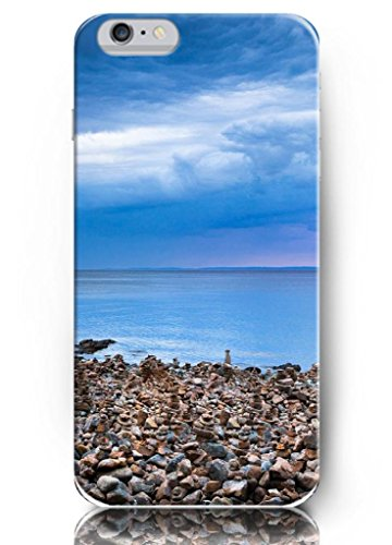 Ouo New Unique Vintage Hard Cover For 4.7 Inch Iphone 6 Case Small Rocks And Blue Sea