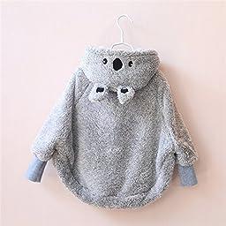 Topwon Little koala Baby Cloak Poncho Cape Outwear 1-2 Years Old