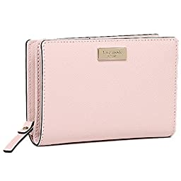 Kate Spade Cara Newbury Lane Leather Clutch Wallet in Balletslip Pink