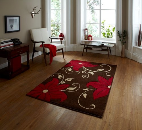 Grey Kitchen Rug Black Pattern Hard Wearing Flat Weave Carpet 120x170 160x230