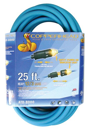 Images for ATD Tools 8000 Copperhead Plug 'N Lock 25' Extension Cord
