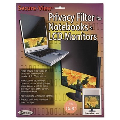 Kantek Secure-View Blackout Privacy Filter for 15.6-Inch Widescreen Notebooks (16:9 Aspect Ratio) (SVL15.6W)