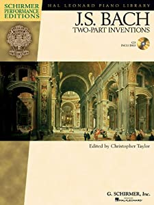 Js Bach Two Part Inventions Hal Leonard Piano Library by Hal Leonard Corporation