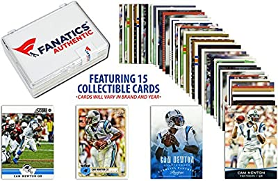 Cam Newton Carolina Panthers Collectible Lot of 15 NFL Trading Cards - Fanatics Authentic Certified - Football Player Sets