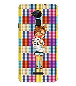 PrintDhaba Shouting Girl D-2608 Back Case Cover for COOLPAD NOTE 3 LITE (Multi-Coloured)