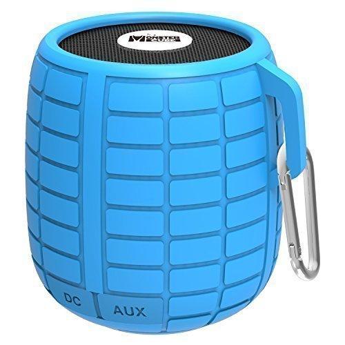 Monstercube Bomb cassa altoparlante speaker bluetooth 3.0, blu, impermeabile, ottimo per doccia e attività all'aria aperta, 10 metri di portata Bluetooth, altoparlante bluetooth per auto, pratico, vivavoce portatile con microfono incorporato per agevolare le chiamate, 4 ore di riproduzione