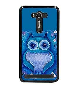 Fuson Premium 2D Back Case Cover Animated owl With Brown Background Degined For Asus Zenfone Selfie::Asus Zenfone Selfie ZD551KL