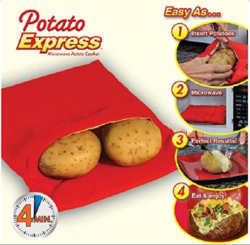 acmebuy £ š TM) de haute qualité 5pièces/lot rouge micro-ondes Sac de pommes de terre au four de cuisson de pommes de terre Sac Sacs de cuisson rapide rapide de pommes de terre