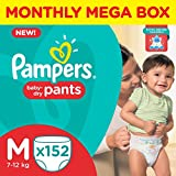#3: Pampers Medium Size Diaper Pants Monthly Box Pack (152 Count)
