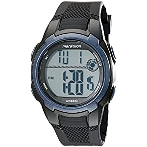 Timex Men's T5K820M6 Marathon Digital Watch With Black Resin Band
