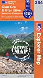 Ordnance Survey Glen Coe and Glen Etive (OS Explorer Map, 384)