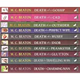 Hamish Macbeth Collection: 10 books RRP �63.90 - Death of a ...... Gossip, Cad, Outsider, Perfect Wife, Hussy, Snob, Prankster, Glutton, Travelling Man & Charming Manby M.C. Beaton