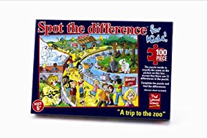 """Spot The Difference For Kids - """"A Trip to the Zoo"""" (100pcs)"""