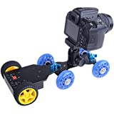 Neewer Aluminum Battery Powered Motorized Push Cart/Trailer for Table Top Video Camera Skater Dollies, Supports up to 6.6lbs/3kg