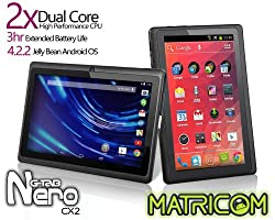Matricom G-Tab Nero CX2 - Dual Core Android Tablet PC (7-inch, Wi-Fi, Rockchip Dual Core, 2014 Model) [Black]