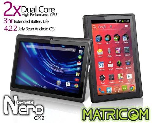 Matricom G-Tab Nero CX2 - Dual Core Android Tablet