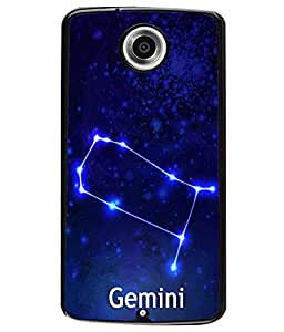 Fuson 2D Printed Sunsign Gemini Designer back case cover for Motorola Nexus 6 - D4470