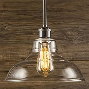 Linea di Liara Lucera Industrial Factory Stem Hung Pendant Lamp