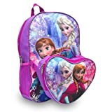 Disney Frozen Anna and Elsa Large Backpack with Detachable Lunch Box