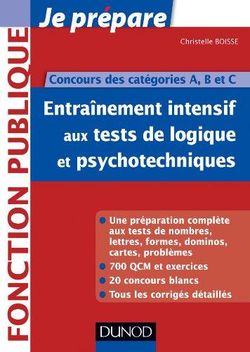 Entrainement intensif aux tests de logique et psychotechniques