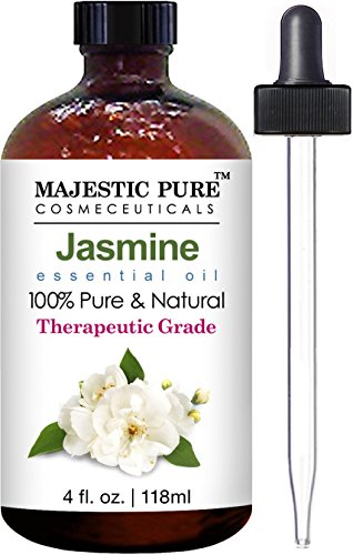 Jasmine Essential Oil From Majestic Pure, Therapeutic Grade, Pure and Natural , 4 fl. oz.