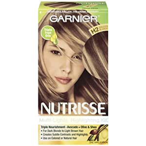 Garnier Nutrisse Nourishing Color Crème, H2 Golden Blonde Toffee Swirl (Packaging May Vary)