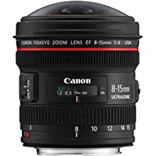 Canon EF 8-15mm f/4L USM Fisheye Ultra Wide Zoom Lens