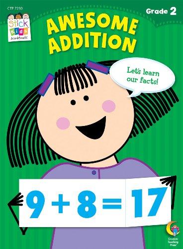 Awesome Addition Stick Kids Workbook, Grade 2 (Stick Kids Workbooks) (Math Facts Chart compare prices)
