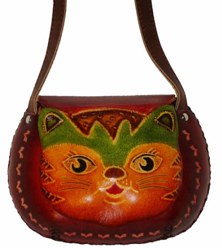 A Beauty Kitty Designs, Small Size Shoulder/cross-body Bag. Hand-made By Genuine Cowhide Leather. Unique.