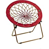 Bunjo Bungee Chair Red and Gold Lounge Saucer Dorm Gaming Camping For Kids Teens College School