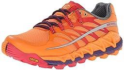 Merrell Women\'s All Out Peak Trail Running Shoe,Orange/Parachute Purple,9 M US