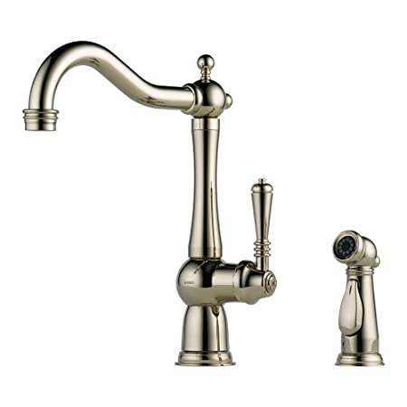 Brizo 61136LF-PN Tresa Kitchen Faucet Single Handle with Side Spray, Polished Nickel