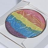 Rainbow Highlighter Blusher Eyeshadow Bronzer Iluminador Contour Shimmer Powder Palette Set