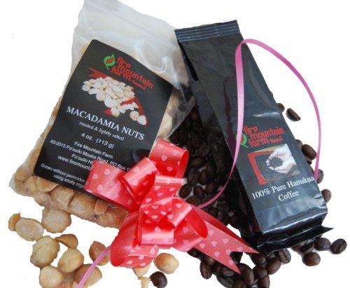 Fire Mountain Farm Hawaiian Macadamia Nut and Coffee Gift Bag - Small