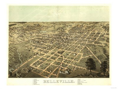 Belleville, Illinois - Panoramic Map