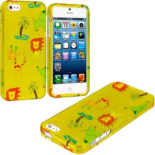"myLife (TM) Abstract Cartoon Wild Animals Series (2 Piece Snap On) Hardshell Plates Case for the iPhone 5/5S (5G) 5th Generation Touch Phone (Clip Fitted Front and Back Solid Cover Case + Rubberized Tough Armor Skin + Lifetime Warranty + Sealed Inside myLife Authorized Packaging) ""ADDITIONAL DETAILS: This two piece clip together case has a gloss surface and smooth texture that maximizes the s at Amazon.com"