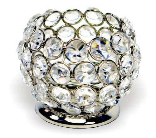 Beautiful Crystal Tealight Holder - Small Globe. Code 11135