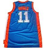 #11 Ed Monix Flint tropical semi-professional basketball movie throwback jerseys stitched white / green S-XXL