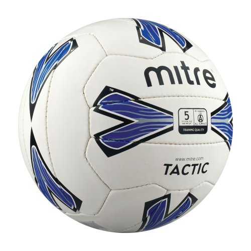 Mitre Tactic Training Football White/Blue Size 5