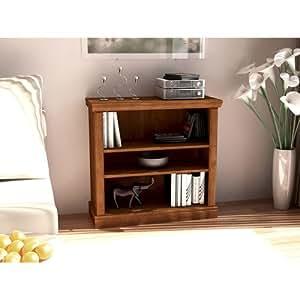 3 Shelf Wood Bookcase Light Oak Small Book