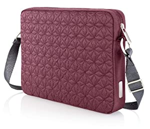 "Belkin F8N282-043 Crossroads Quilted Laptop Sleeve 10.2"" (Garnet) from Belkin Components"
