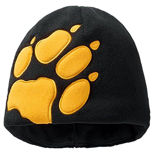 Jack Wolfskin, Berretto Bambino Kids Front Paw Hat, Nero (Black), 49-55 cm