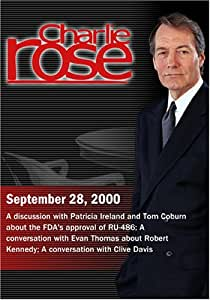 Charlie Rose with Patricia Ireland, Tom Coburn; Evan Thomas, Clive Davis (September 28, 2000)