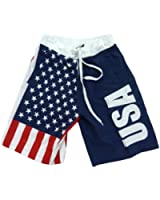 USA American Flag Mens Swim Boardshorts