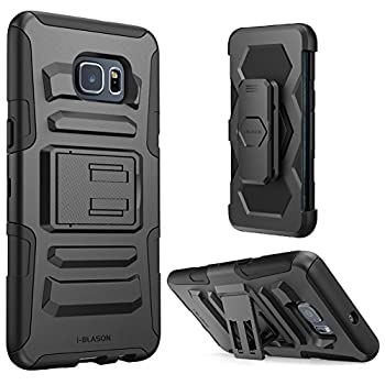 i-Blason Prime Series Dual Layer Holster For Samsung Galaxy S6 Edge Plus + with Kickstand and Locking Belt Swivel Clip
