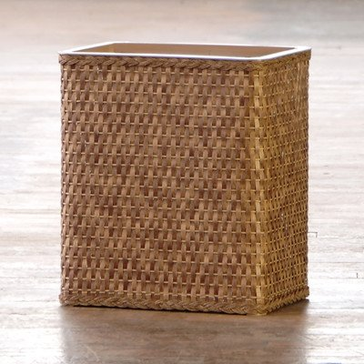 Lamont Home Carter Rectangular Wastebasket, Cappuccino (Wicker Style Trash Can compare prices)