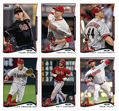 2010,2011,2012,2013 & 2014 Topps Arizona Diamondbacks Baseball Card Team Sets (Complete Series 1 & 2 From All Five Years )