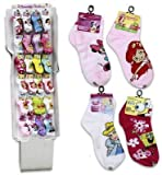Ddi Girls Licensed Socks 6-8 Asst Quarter (Pack Of 120)