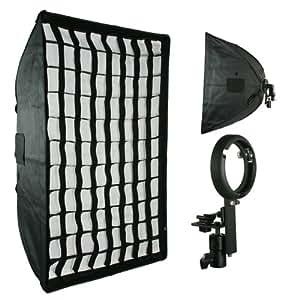 ePhoto Off Camera HoneyComb Grid Large Softbox For Nikon Canon Speedlight SB800, SB900, 430EX, 580EX LBW6090GD