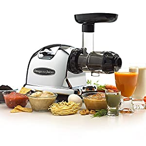 Omega J8006 Nutrition Center Juicer - Black and Chrome